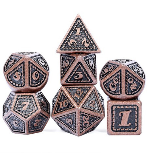 Dice and Gaming Accessories Polyhedral RPG Sets: Metal and Metallic - New World - Metal (7)