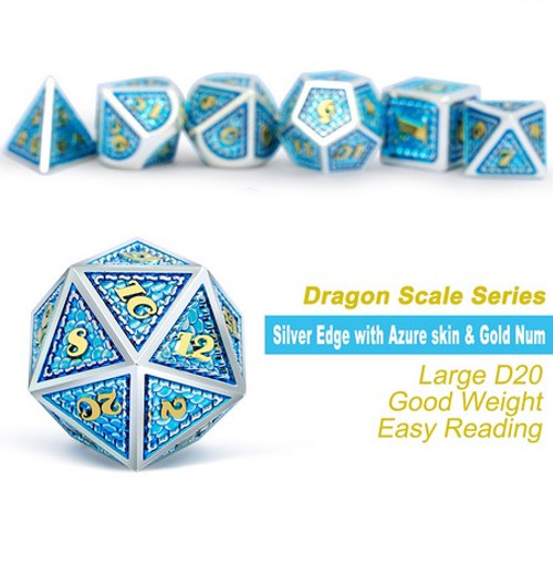 Dice and Gaming Accessories Polyhedral RPG Sets: Metal and Metallic - Poseidon - Metal (7)