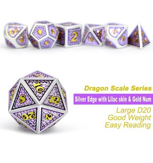 Dice and Gaming Accessories Polyhedral RPG Sets: Metal and Metallic - Regal - Metal (7)