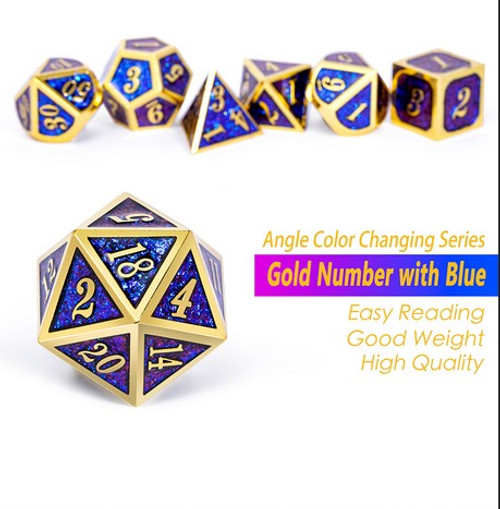 Dice and Gaming Accessories Polyhedral RPG Sets: Metal and Metallic - Stargazer - Metal (7)