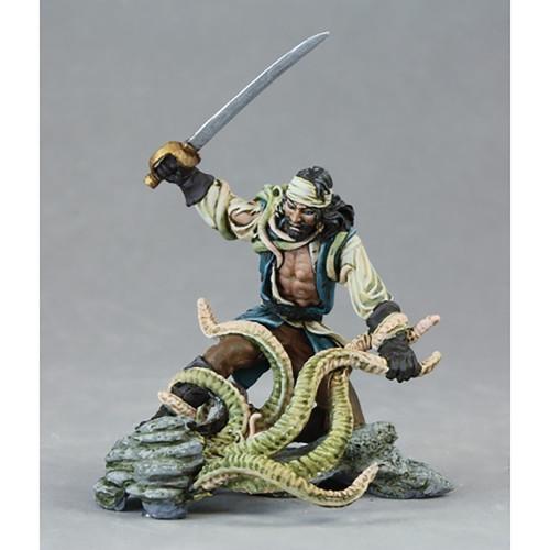 RPG Miniatures: Reaper Minis - Master Series: Pirate vs Sea Monster, (54mm Vignette)