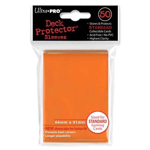Card Sleeves: Solid Color Sleeves - Standard Deck Protectors - Orange (50)