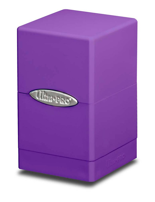 Deck Boxes: Premium Single Dboxes - Satin Tower Deck Box - Purple