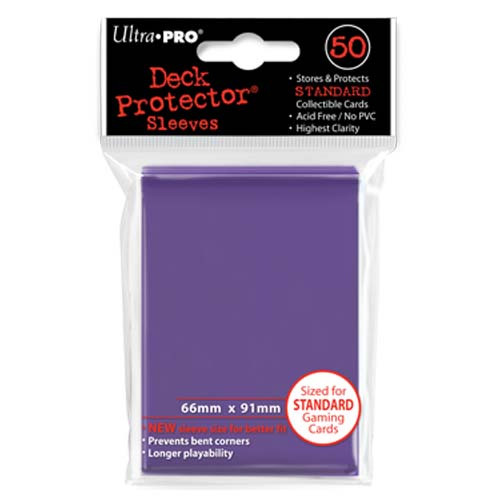 Card Sleeves: Solid Color Sleeves - Standard Deck Protectors - Purple (50)