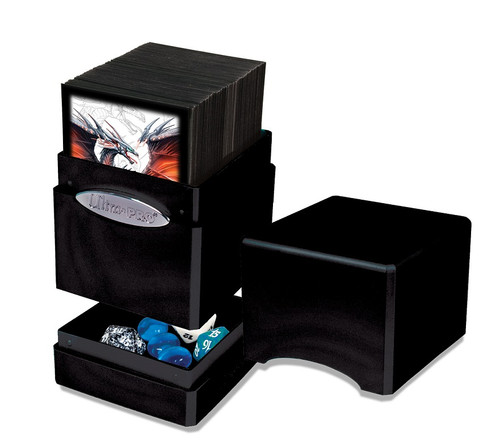 Deck Boxes: Premium Single Dboxes - Satin Tower Deck Box - Midnight