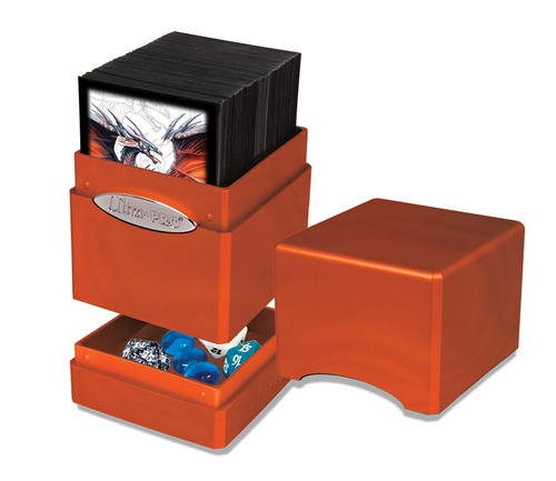 Deck Boxes: Premium Single Dboxes - Satin Tower Deck Box - Pumpkin