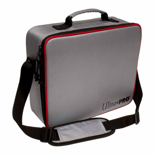 Card Boxes: Collector's Deluxe Carrying Case: Silver with Red Trim