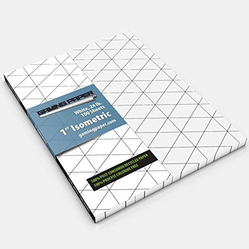 """General Playmats and Tiles: Gaming Paper - White 1"""" Isometric Singles Pack"""
