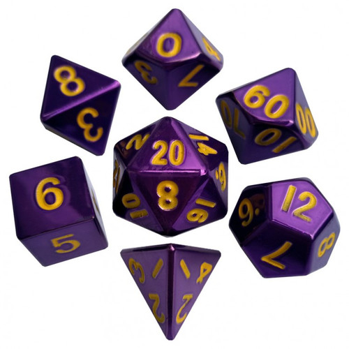 Dice and Gaming Accessories Polyhedral RPG Sets: 7-set: PUgd Metal