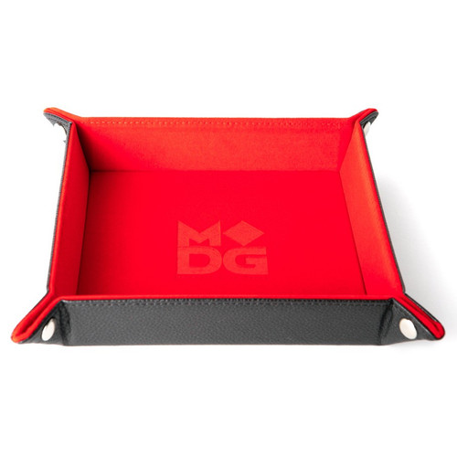 Dice and Gaming Accessories Dice Towers and Trays: Folding Dice Tray: Velvet 10x10 RD