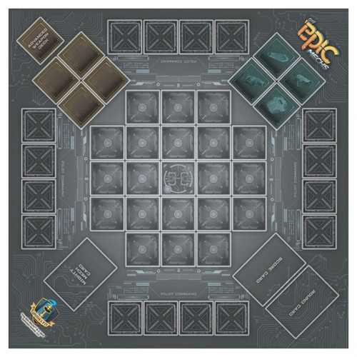 Board Games: Tiny Epic - Play Mat: Tiny Epic Mechs