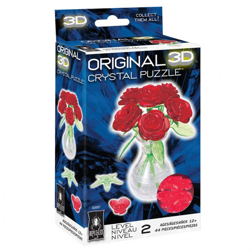Puzzles: 3D Crystal Puzzle - Roses
