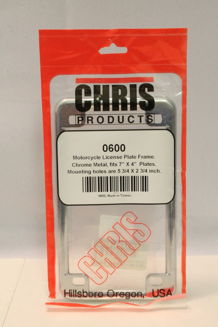 NEW Chris Products motorcycle license plate frame (chrome) [U-B1S2 225959]