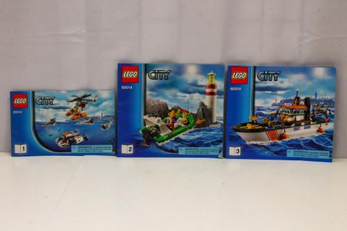LEGO City Coast Guard Patrol Boat Instruction Booklets 1, 2, & 3 ONLY [U-B5S5 228056]