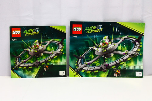LEGO Alien Conquest Mothership Instruction Booklets 1 & 2 ONLY [U-B5S5 228059]
