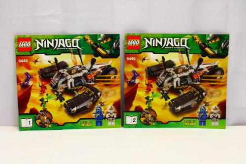 LEGO Ninjago Ultra Sonic Raider 9449 Instruction Booklets 1 & 2 ONLY [U-B5S5 228061]