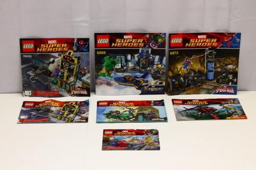 LEGO Marvel Instruction Booklets ONLY 6865 6866 6868 6873 76004 76005 [U-B5S5 228426]