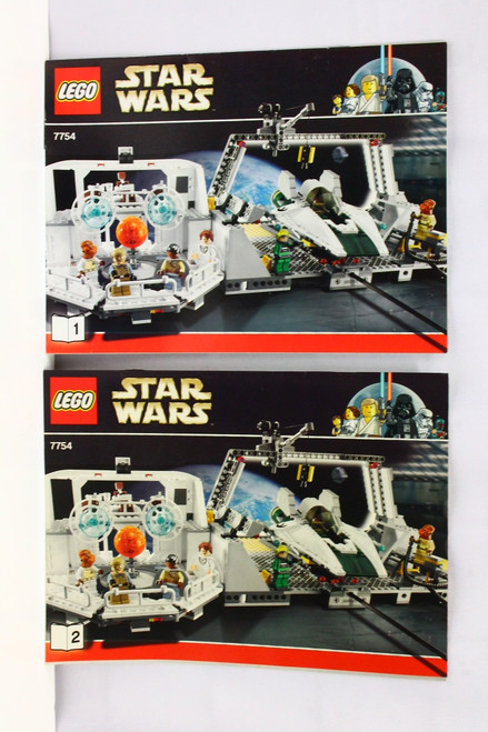 LEGO Star Wars Home 1 Mon Calamari Star Cruiser 7754 Instruction Book 1 & 2 ONLY [U-B5S5 228439]