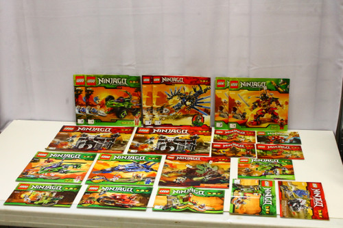 LEGO Ninjago Instruction Booklets Lot (17) [U-B5S5 228470]