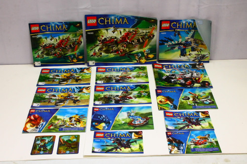 LEGO Legends of Chima Instruction Booklets ONLY Lot (10) [U-B5S5 228477]