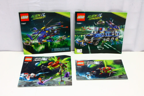 LEGO Alien Conquest & Galaxy Squad Instruction Booklets ONLY [U-B5S5 228490]