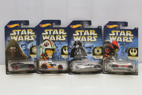 Mattel Star Wars Hot Wheels #5-8 Lot Walmart Exclusives [U-B6S3 229514]