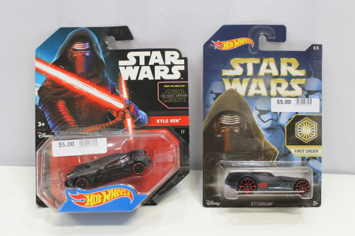 Mattel Star Wars Kylo Ren & First Order Hot Wheels 2015 Lot of 2 [U-B6S1 229523]