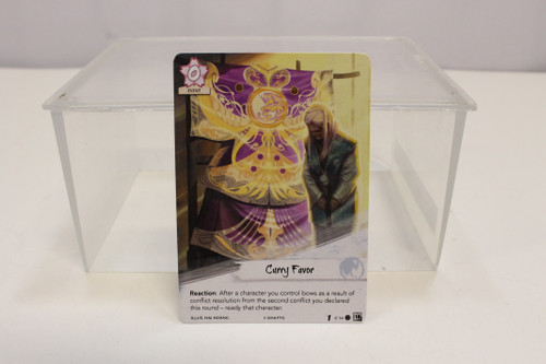 Legend of the Five Rings LCG L5R Curry Favor Crane Clan Promo [U-B5S3 231757]
