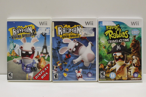 Nintendo Wii Assorted Games Lot - Raving Rabbids, Squeeballs, Family Party [U-B9S2 262025]