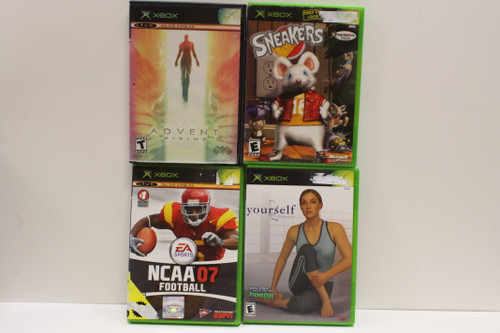 Used Xbox Video Games Lot- NCAA Football 07, Sneakers, Yourself Fitness, [U-B5S4 262565]