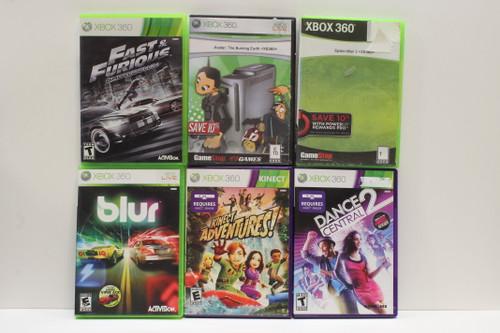 Used Xbox 360 Video Game Lot- Blur, Spiderman 3, Fast & Furious Showdown, Avatar [U-B11S4 262567]