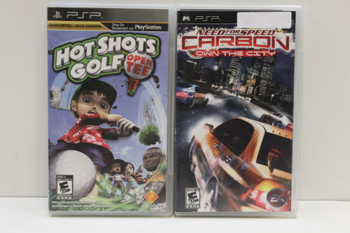 Used PSP Video Game Lot- Hot Shot Golf, Need for Speed Carbon Own The City [U-B4S3 262569]
