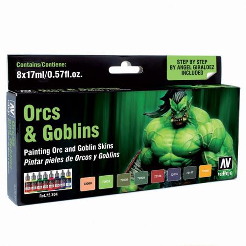 Paint: Vallejo - Paint Sets GC: Orcs & Goblins Paint Set (8)