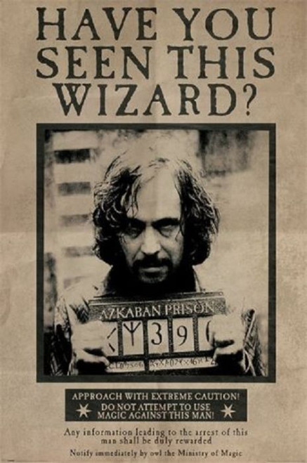 Posters: Harry Potter - Wanted Sirius Black