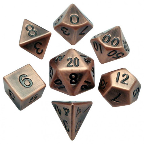 Dice and Gaming Accessories Polyhedral RPG Sets: 7-set: 16mm: Antique CP Metal