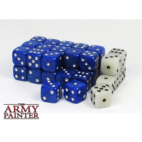 Dice and Gaming Accessories D6 Sets: Opaque - Wargaming Dice: Blue (36)