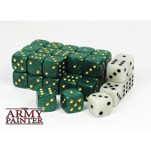 Dice and Gaming Accessories D6 Sets: Opaque - Wargaming Dice: Green (36)