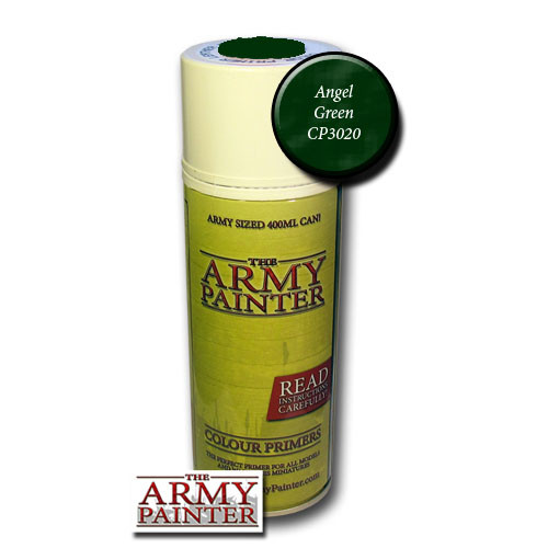 Spray Primers and Varnish: Army Painter - Colour Primer: Angel Green