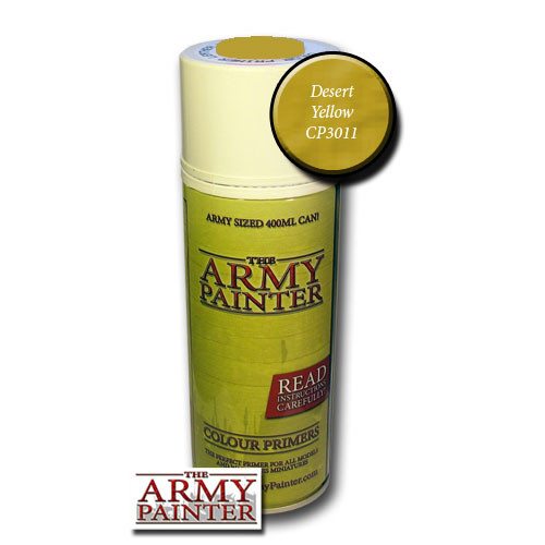 Spray Primers and Varnish: Army Painter - Colour Primer: Desert Yellow