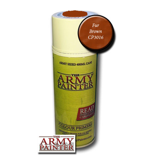 Spray Primers and Varnish: Army Painter - Colour Primer: Fur Brown