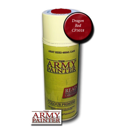 Spray Primers and Varnish: Army Painter - Colour Primer: Dragon Red