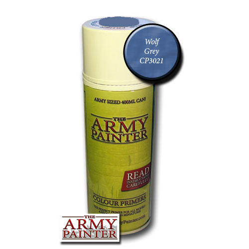 Spray Primers and Varnish: Army Painter - Colour Primer: Wolf Grey