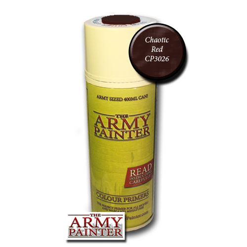 Spray Primers and Varnish: Army Painter - Colour Primer: Chaotic Red