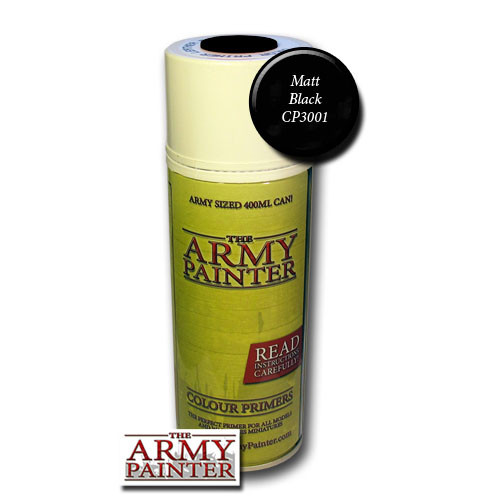 Spray Primers and Varnish: Army Painter - Base Primer: Matt Black