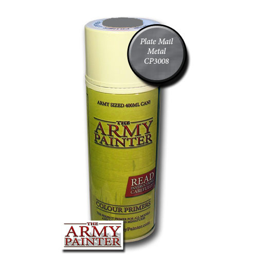 Spray Primers and Varnish: Army Painter - Colour Primer: Plate Mail Metal