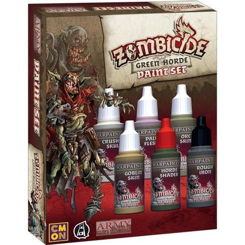 Paint: Army Painter - Paint Sets Warpaints: Zombicide Black Plague Green Horde Paint Set