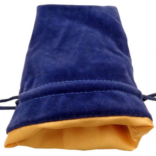 Dice and Gaming Accessories Dice Bags: Dice Bag: 4x6: Velvet/Satin: BU/GD