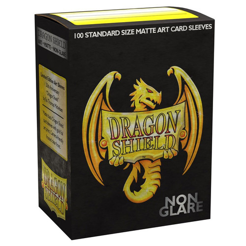 Card Sleeves: Other Printed Sleeves - Dragon Shields: (100) Non-Glare Matte Art Dragon Shield Anniversary