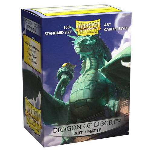 Card Sleeves: Other Printed Sleeves - Dragon Shields: (100) Matte Art - Dragon of Liberty