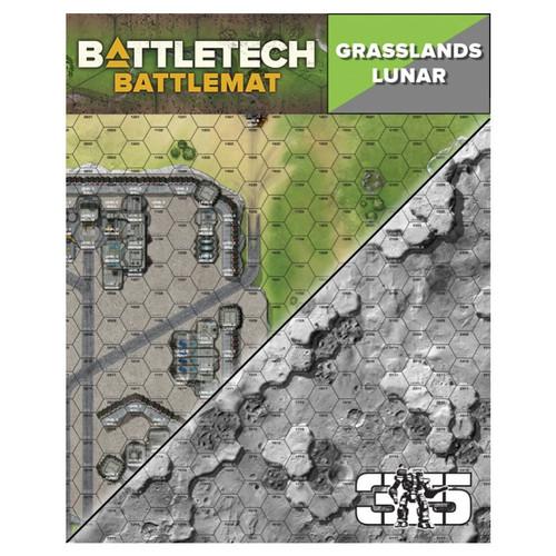 Battletech: Battletech: Battle Mat - Grasslands/Lunar